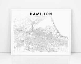 Hamilton map Etsy