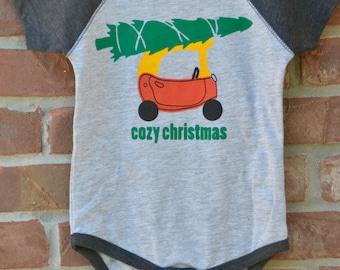 Christmas onesie: cozy christmas.