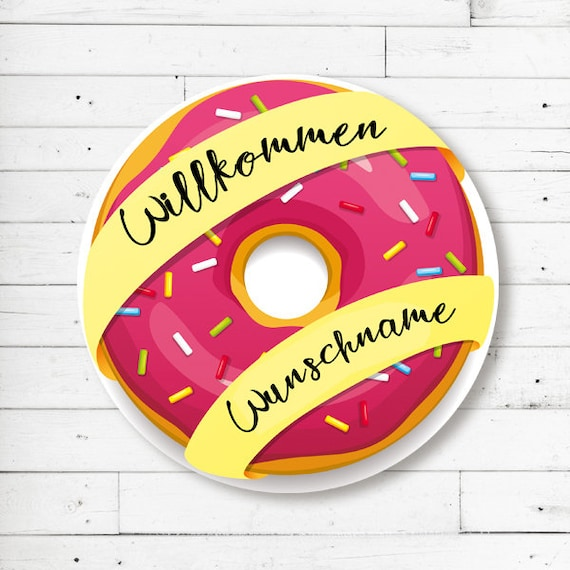 """""""Donut"""" mat with name or text (round)"""
