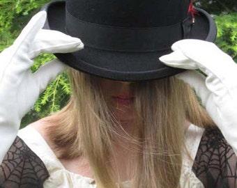 Wool Felt Bowler Derby Hat - Black Szs: Sm, Med, XXL