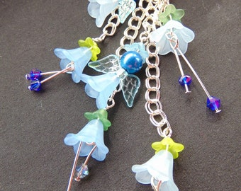 Fairies and Flowers Charm Necklace