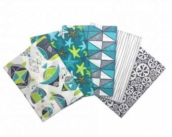 Sea Life Underwater Fabric 100% Cotton Fat Quarter Pack