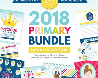 2018 LDS Primary Theme Bundle - I am a Child of God