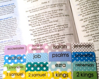 STANDARD Colorful Polka Dots Books of Bible Tabs by Victoria Anderson