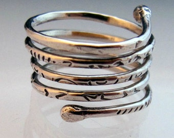 Fine Silver Wrapping Ring Made To Order Your Size