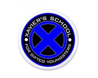 X Men Badge -  Badges/Fridge Magnets - Xavier School - Marvel
