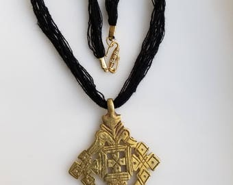 Ethiopian Coptic Cross necklace, Ethiopian necklace, Coptic cross, Ethiopian jewelry, African jewelry