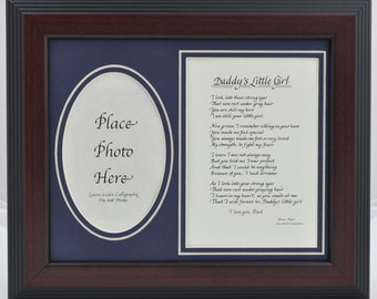 8x10 Daddy's Little Girl Picture Frame Poem Gift from Daughter to Father