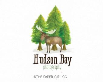 Moose Logo Nature Logo Boutique Logo Photography Logo Baby Boutique Logo  Premade Logo Rustic Logo Clothing