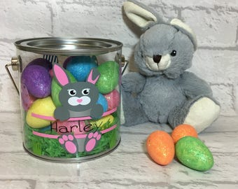 Personalised Easter Basket, Easter Egg Hunt, Personalised Easter Pail, Personalised Easter Gift, Children's Personalised Easter Pail, Easter