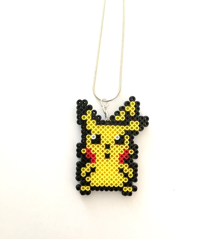 Pokemon Pikachu Perler Bead Necklace Perler Bead Pokemon 8 # Muebles Pokemon