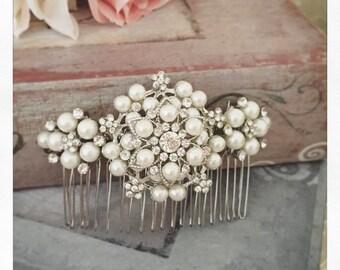 Bridal Hair Comb, Wedding Hair Comb, Bridal Hair Accessories, Crystal Haircomb, Rhinestone Haircomb, Bridal Head Piece