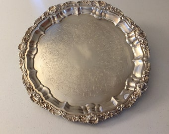 Silverplate Tray 14 inch round