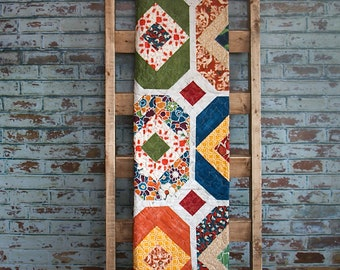 Handmade Quilt with Fabrics by Designer Laura Gunn