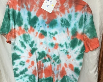 Tie Dyed T-Shirt Adult Large  (AL-4)