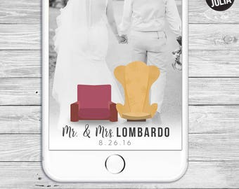 Our Greatest Adventure / Snapchat Filter / Disney Wedding / Disney UP / UP Themed Wedding / Adventure / Travel / Customized / Carl & Ellie