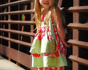INSTANT DOWNLOAD- Knot Dress (Sizes 6/12 months to Size 6) PDF Sewing Pattern and Tutorial