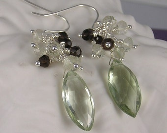 Green Amethyst Earrings (134)