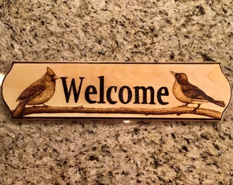 Bird Welcome Sign