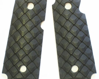 "Duragrips - Kimber Micro Carry .380 Tactical Grips - "" Pangolin Scales"" Black"