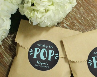 24 Paper Favor Bags - Ready to Pop Label | Baby Sprinkle Favors | Baby Shower Labels | Kraft Favor Bag | Baby Shower Favor | Favor Bags