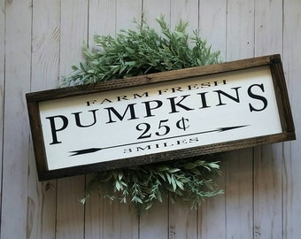 Farm Fresh Pumpkins For Sale - Fall Farmhouse Decor - Fall Sign  - Rustic Fall Farmhouse