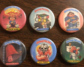 Garbage Pail Kids magnets or pin back buttons