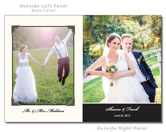 Custom Wedding Thank You Card Folded with 4 Photos DIY PRINTABLE Digital File or Print (extra) Photo Thank You Wedding Thank You