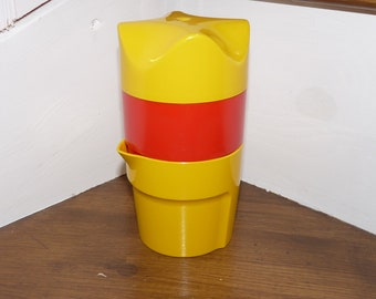 Citrus yellow and Red SOLINGEN press 70s POP / Vintage