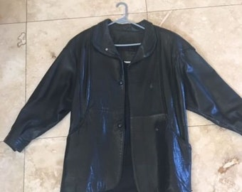 Bagatelle Black Leather Jacket size 8 Fully Lined Pre-Owned