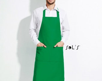 Type your text here!!!  Machine embroidered custom design on long apron with pockets