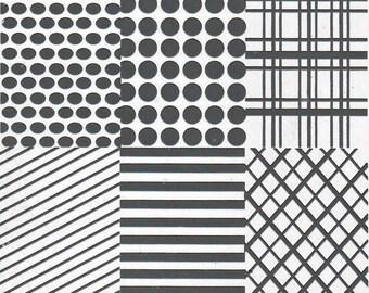Stamping Plate (plaid, polka dots, chevron, stripes, stars) ND-Z01