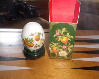 vintage avon perfume bottle oriental egg peach orchard sonnet unused with box