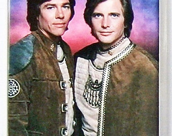 Battlestar Galactica Battlestar Galactica Dirk Benedict Lorne Greene Richard Hatch - TV poster Fridge Magnets & Keyrings Version 1 - New