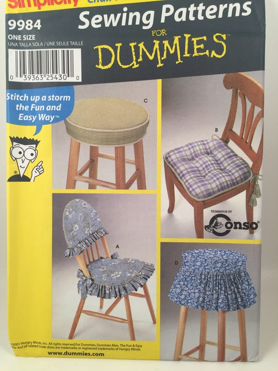 Chair Pad, Simplicity 9984, Sewing Pattern, Chair Cover Stool Pad ...