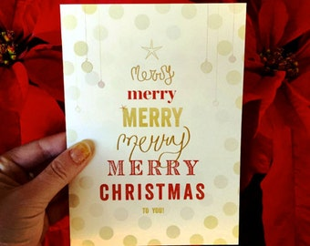 Merry Christmas Tree Card/ X-Mas Cards/ Merry Christmas to You