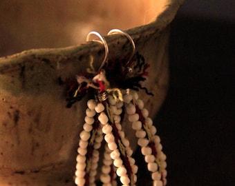 Large Peruvian Textile Loop Earrings