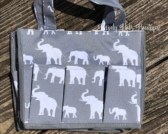 Elephant  Caddy Bag | Carry All Bag | Beach Bag | Monogram Caddy Bag | Summer Bag | Graduation Gift | Baby Shower Gift | Nurse Gift |