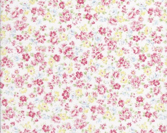 Flower Fields - Small Floral Fabric - Pink Floral Fabric - Lecien Fabric