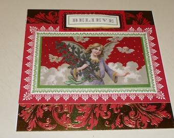 Christmas Believe Angel Card