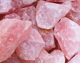 Raw Rose Quartz Chunks LARGE PINK Quartz w/ Reiki, RAW Healing Crystals Stones