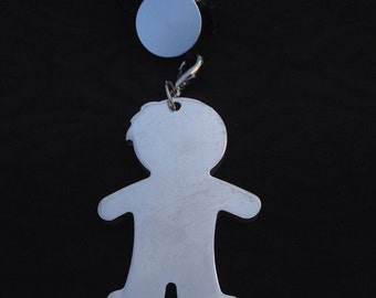 Cauchu necklace ' bebe ' in aluminium with the possibility of custom engraving