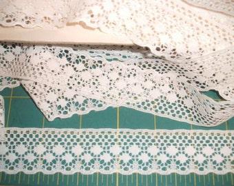 30mm Wide Flat Ivory Lace Trim x Three Metres