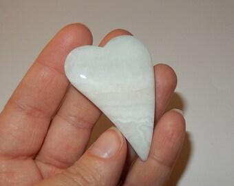 Aragonite Stone Heart