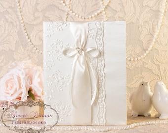 Folder for marriage, Folder for certificate Lace folder, Ivory folder for marriage,Wedding certificate cover, cover for marriage certificate