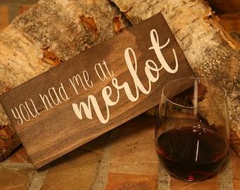 Wine Lover, Merlot, Wooden Sign, Wood Sign, Decor, Bar Decor
