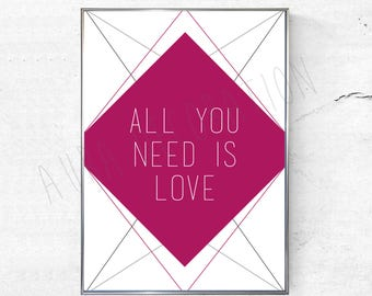 Picture / poster - All you need is love