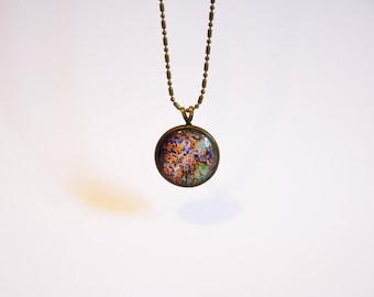 """Necklace - planet - cabochon - """"Antichthon #1"""""""