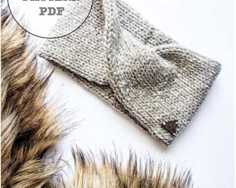 Knitting Pattern / Willow Headband Knitting Pattern / Whiteowlcrochetco Knitting Pattern / Headband Knitting Pattern