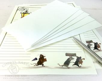 Mice Stationery Paper - Stationery Paper Set - Stationery Set - Writing Paper - Lined Paper - Writing Paper Stationery - Woodland Paper